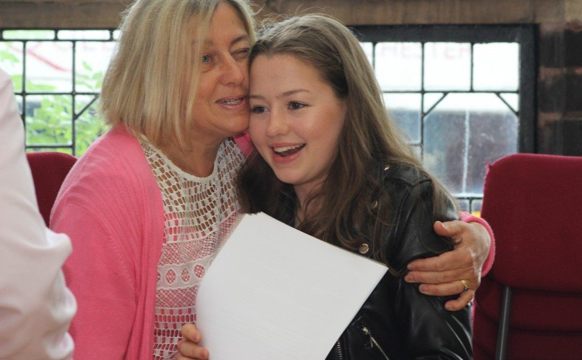 Queen's girls celebrate top GCSE results