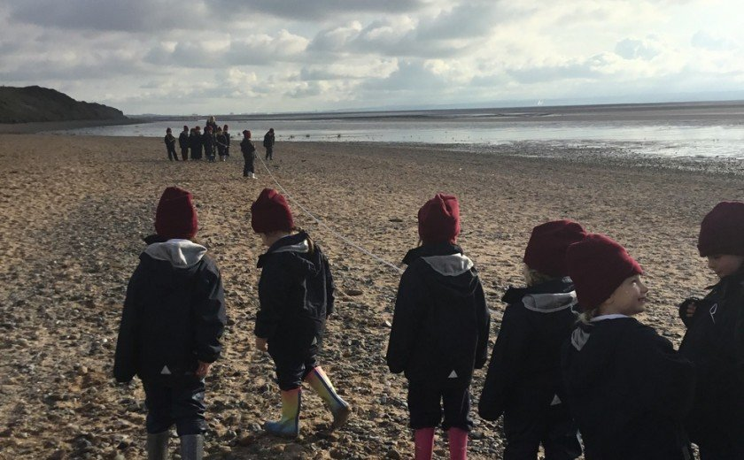 Year 2 learn more about the river at the beach